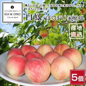 桃の産地和歌山から直送! 白鳳(はくほう) 6個 家庭用 ※訳ありの桃ではなく通常のダンボール箱で発送します。|koji-de-omiso