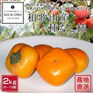 産地直送! 和歌山産 種なし柿 2kg (収穫時期:11月中旬頃まで) koji-de-omiso