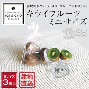 和歌山産 キウイフルーツ お試しミニサイズ 3個入|koji-de-omiso