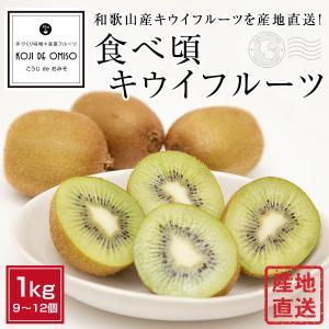 産地直送! 和歌山産食べ頃完熟キウイフルーツ 1kg|koji-de-omiso