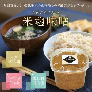 昔ながらの手づくり 米麹味噌 1kg|koji-de-omiso