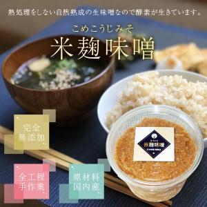 昔ながらの手づくり 米麹味噌 400g|koji-de-omiso