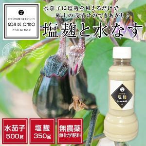 塩麹と水なすセット+胡瓜3本おまけ 〈チルド便で発送〉|koji-de-omiso