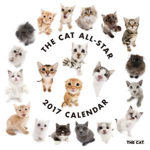 THE CAT 2017年カレンダー オールスター(カレンダー アーリスト THE CAT 壁掛け 猫)