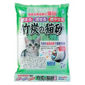 ポイント最大13倍! 猫砂 流せる猫砂 竹炭の猫砂 7L|koji