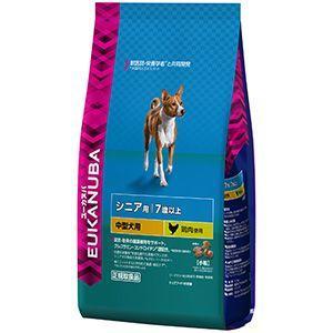 ポイント最大12倍! ユーカヌバ ドッグフード 7歳以上用 シニア 中型犬種(小粒) 7.5kg|koji