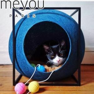 ポイント最大21倍! meyou THE CUBE(キューブ) ピーコック(猫 キャット ベッド ファニチャー 爪とぎ)|koji