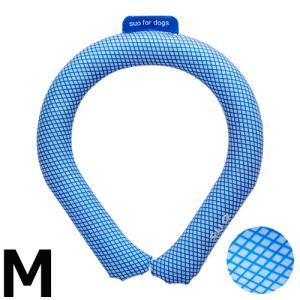 13日0時〜!店内ポイント最大34倍!SUO for dogs 28°アイスクールリング 28°ICE_COOL RING M ブルー 熱中症対策グッズ 暑さ対策 ひんやり 首|koji