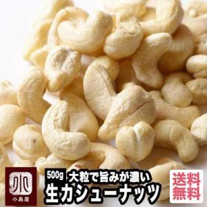 生カシューナッツ 500g インド産 無添加 宅急便送料無料 無塩 無油 大粒で ナッツ の旨みが濃い|kojima-ya