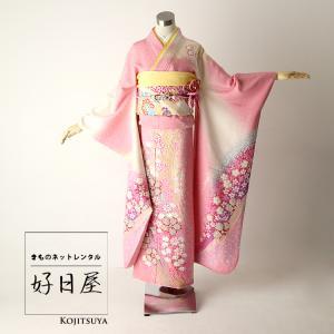 振袖 レンタル 結婚式 成人式 結納 卒業式 ピンク 着物 セット 正絹 フルセット pi-002