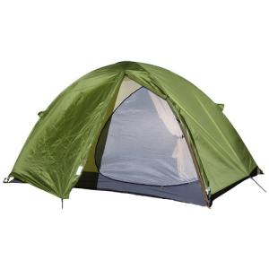 広いパネルに解放感のある大きな半月型の入り口を持った3シーズン用テントです。大きなベンチレーターと相...
