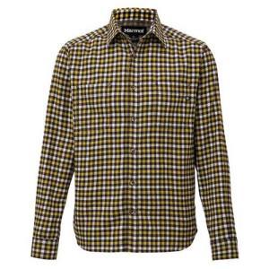 【ポイント10倍】メンズ ウェア 山シャツ マーモット ガンクラブチェック ロングスリーブシャツ ブラック TOMMJB76 kojitusanso