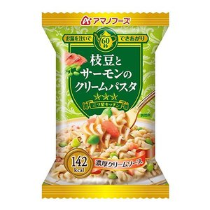 【ポイント11%】アマノフーズ 三ツ星キッチン 枝豆とサーモンのクリームパスタ DF-0402