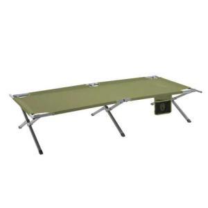ゆったりサイズで丈夫なスチール製コット。ベンチにも荷物置き場にも使えて便 キャンプ スリーピングバッ...