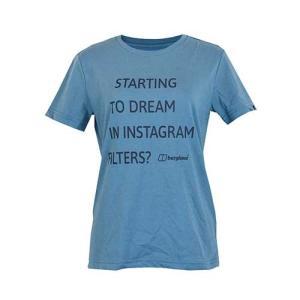 レディースウェア カットソー Tシャツ バーグハウス ウィメンズ メッセージティー BLUE STONE J0447|kojitusanso