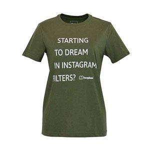 レディースウェア カットソー Tシャツ バーグハウス ウィメンズ メッセージティー IVY GREEN J0447|kojitusanso