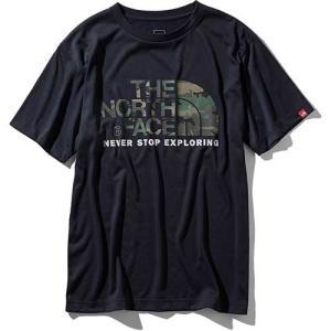 【ポイント10倍】THE NORTH FACE(ザ・ノースフェイス) / ショートスリーブ カモフラージュロゴティー メンズ / アーバンネイビー / NT31932 kojitusanso