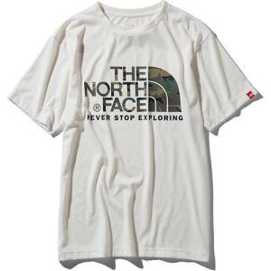 【ポイント10倍】THE NORTH FACE(ザ・ノースフェイス) / ショートスリーブ カモフラージュロゴティー メンズ / ホワイト / NT31932 kojitusanso