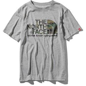 【ポイント10倍】THE NORTH FACE(ザ・ノースフェイス) / ショートスリーブ カモフラージュロゴティー メンズ / ミックスグレー / NT31932 kojitusanso