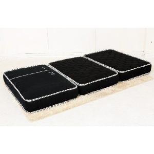 3分割マットレス 1/3(さんぶんのいち)ブラック ポケットコイル仕様 低反発ウレタン シングルサイズ|koki-mattress