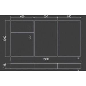 3分割マットレス 1/3(さんぶんのいち)ブラック ポケットコイル仕様 低反発ウレタン シングルサイズ|koki-mattress|04
