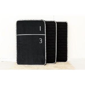 3分割マットレス 1/3(さんぶんのいち)ブラック ポケットコイル仕様 低反発ウレタン セミダブルサイズ|koki-mattress|02