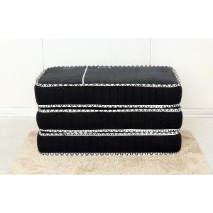 3分割マットレス 1/3(さんぶんのいち)ブラック ポケットコイル仕様 低反発ウレタン セミダブルサイズ|koki-mattress|03
