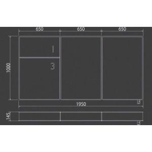 3分割マットレス 1/3(さんぶんのいち)ブラック ポケットコイル仕様 低反発ウレタン セミダブルサイズ|koki-mattress|04