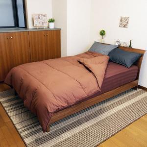送料無料 KOKIマットレス特製 シンサレート 掛布団 セミダブル ブラウン 綿100% 高機能中綿素材|koki-mattress