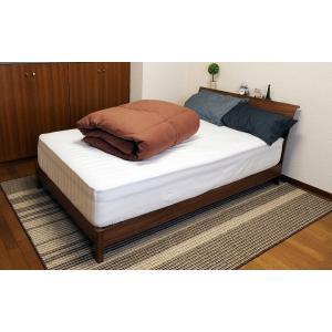 送料無料 KOKIマットレス特製 シンサレート 掛布団 セミダブル ブラウン 綿100% 高機能中綿素材|koki-mattress|02