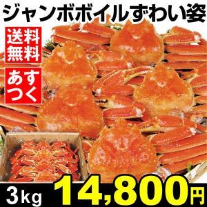 食品 ジャンボボイルずわい蟹姿 3kg 1組 冷凍