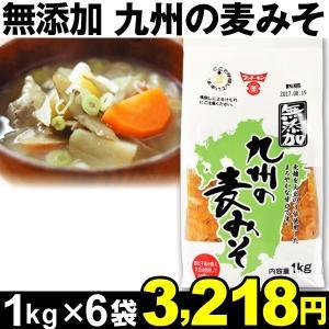 麦ミソ 無添加 九州の麦みそ 1kg×6袋|kokkaen