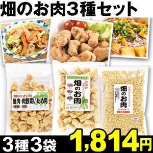 大豆ミート 畑のお肉3種セット3種3袋|kokkaen