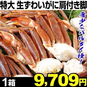 ずわいかに 特大 生ずわいがに 肩付き脚 1箱(1箱あたり4〜5肩入り)5L〜6L 冷凍 蟹 食品|kokkaen