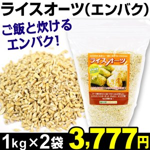 ライスオーツ 2袋 オーツ麦 (1袋1kg入り) 食品|kokkaen
