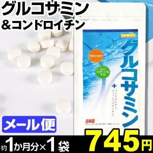 サプリメント グルコサミン&コンドロイチン 1袋 (1袋150粒入り:約1カ月分) メール便 食品|kokkaen