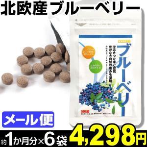 サプリメント 北欧産 ブルーベリー 6袋 (1袋60粒入り:約1カ月分) メール便 食品|kokkaen