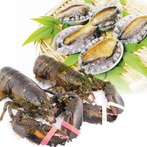 蝦夷あわび&オマール海老 2種1組 冷蔵便 食品|kokkaen