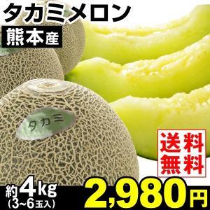 メロン 【超買得】熊本産 タカミメロン 4kg 1箱(3〜6...