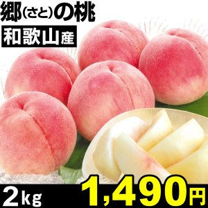 桃 和歌山産 郷(さと)の桃 2kg 1箱 【2箱購入で送料...