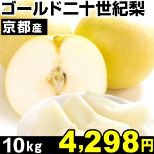 梨 京都産 ゴールド二十世紀梨 10kg 1箱|kokkaen