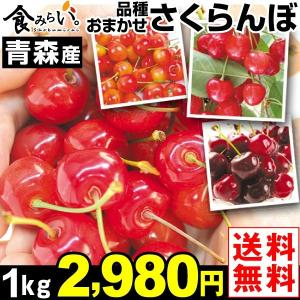 さくらんぼ 青森産 ご家庭用 おまかせさくらんぼ 1kg 1箱 送料無料 サクランボ 品種おまかせ 冷蔵|kokkaen