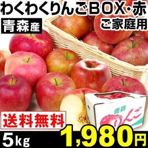 リンゴ 青森産 わくわくりんごボックス・赤 5kg 1箱 ご...