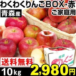 リンゴ 青森産 わくわくりんごボックス・赤 10kg 1組 ...