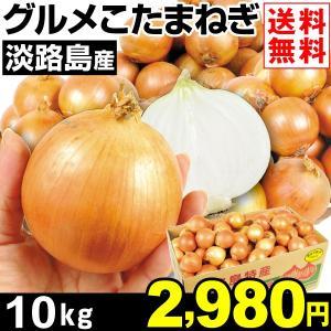 玉ねぎ 淡路島産 グルメこたまねぎ 10kg 1箱 送料無料 小玉サイズ 野菜 食品|kokkaen
