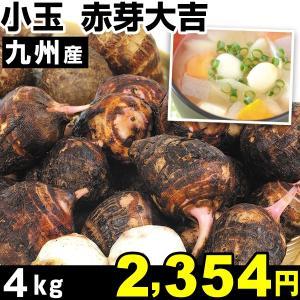 サトイモ 九州産 小玉 赤芽大吉 4kg1組 里いも 食品 kokkaen
