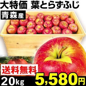 リンゴ 青森産 大特価 木箱 葉とらずふじ 20kg1箱 送...