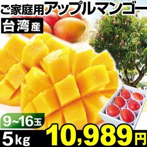 マンゴー 台湾産 ご家庭用 アップルマンゴー 5kg1箱 冷蔵 食品|kokkaen