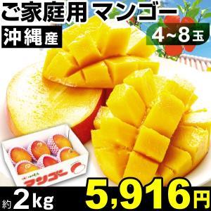 マンゴー 沖縄産 ご家庭用 マンゴー 約2kg1箱 冷蔵 食品|kokkaen