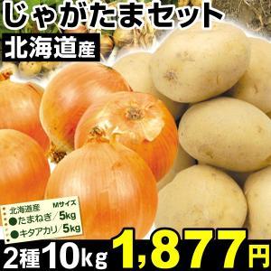 北海道産 じゃがたまセット 2種約10kg1組 たまねぎ じゃが芋 食品|kokkaen